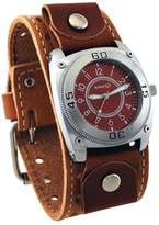 Nemesis #BSTH012B Men's Signature Dial Wide Leather Cuff Watch