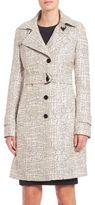 Akris Punto Cross Stitch Jacquard Trench