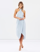 Shona Joy Core Knot Draped Dress