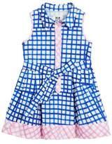 Milly Minis Sleeveless Check Shirt Dress, Size 4-7