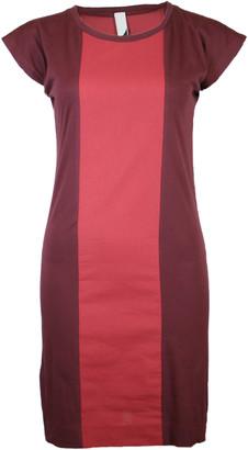 Format PLUM Rust Single Plain Dress - S - Red/Brown