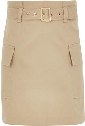 River Island Girls Beige belted utility A line skirt