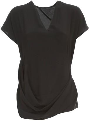 Rick Owens V-Neck Draped T-Shirt