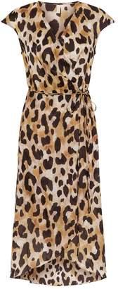 Gottex Leopard Print Beach Wrap Dress