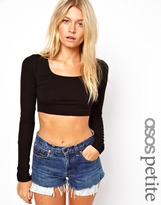 Asos 90's Crop With Long Sleeve
