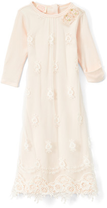 Biscotti Girls' Special Occasion Dresses PINK - Pink Lace-Accent Gown - Infant