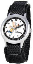 Disney Phineas Kid's Stainless Steel Time Teacher Watch- Black Strap