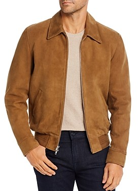 7 For All Mankind Suede Regular Fit Blouson Jacket