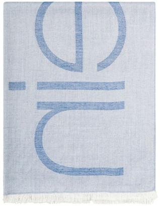 Calvin Klein Colorblock Logo Pashmina Scarf