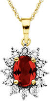 Macy's 10k Gold Necklace, Ruby (1-1/8 ct. t.w.) and Diamond Accent Pendant