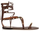 Valentino Rolling Rockstud leather gladiator sandals