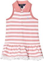 Ralph Lauren Pink and White Sleeveless Pique Dress