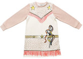 Stella McCartney Savannah Fleece Cowgirl Dress, Cloud, Size 4-6