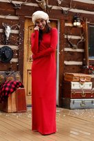 Shabby Apple Red Rudolph Maxi Dress