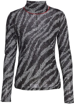Rag & Bone Zebra Shaw Turtleneck Sweater