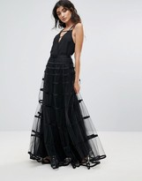 Forever Unique Mesh Maxi Skirt