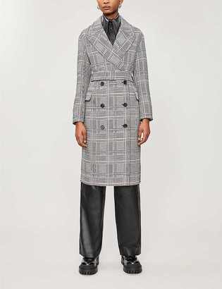 AllSaints Tyla woven check trench coat