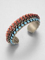 Dannijo Faceted Bangle Bracelet
