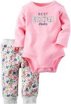Carter's Baby Girls Bodysuit Pant Sets