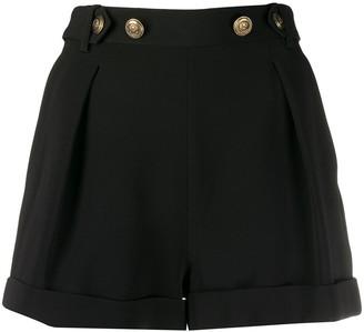 Philosophy di Lorenzo Serafini Button Embellished Turn-Up Cuff Shorts