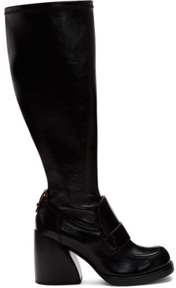 Chloé Black Shiny Tall Boots
