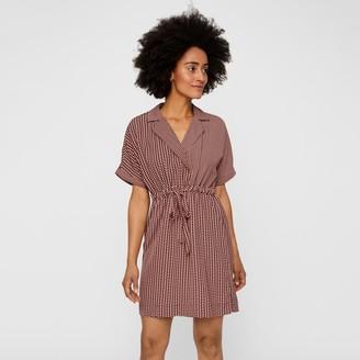 Vero Moda Short Wrapover Shirt Dress in Graphic Print