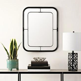 "Safavieh Silter 26-inch Black Rectangular Wall Accent Mirror - 22"" x 1"" x 28"""