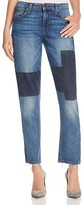 Joe's Jeans Ex Lover Patchwork Cropped Straight Leg Jeans in Jenni