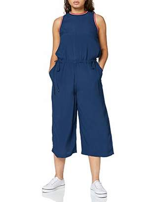 Tommy Jeans Women's Culottes Sleeveless Relaxed Jumpsuit,Medium