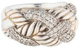 David Yurman Diamond Woven Cable Ring
