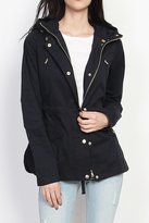 TheMogan Women's Drawstring Hooded Anorak Utility Jacket S