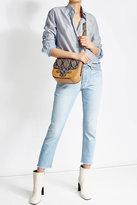 Vanessa Bruno Leather Shoulder Bag with Snake Print