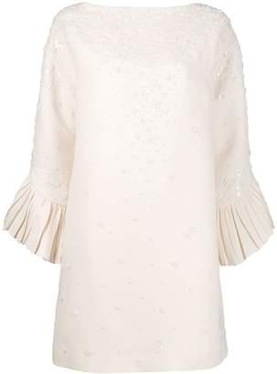 Valentino floral beaded shift dress