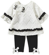 Rare Editions Baby Girls 3-24 Months Lace Dress & Knit Leggings Set