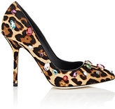 Dolce & Gabbana Women's Embellished Haircalf Pumps