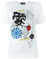 DSQUARED2 mechanical sketch T-shirt
