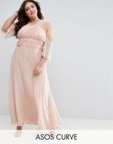Asos WEDDING One Shoulder Maxi Dress