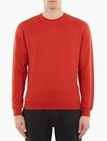 Sunspel Red Cotton Sweatshirt