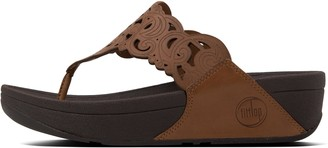 FitFlop Flora Leather Toe-Post Sandals
