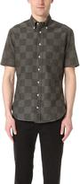 Gitman Brothers Short Sleeve Jacquard Check Shirt
