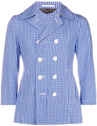 Comme des Garcons Pre-Owned checked double-breasted jacket