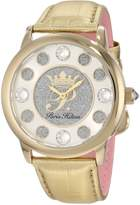 Paris Hilton Women's PH.13181JSG/04 Fame Pave Glitter Gold Leather Watch