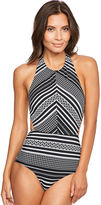 Figleaves Icon Tribe High Neck Shaping Swimsuit
