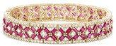 Effy Jewelry Effy Gemma 14K Yellow Gold Ruby and Diamond Bracelet, 14.10 TCW