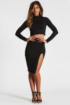 Donna Mizani Midi Slit Skirt