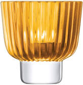 LSA International Pleat Tealight Holder - 9.5cm - Amber