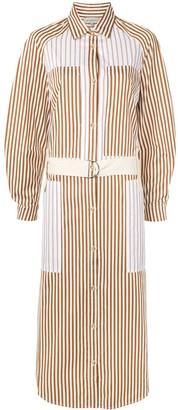 Lee Mathews Jamie striped shirt dress