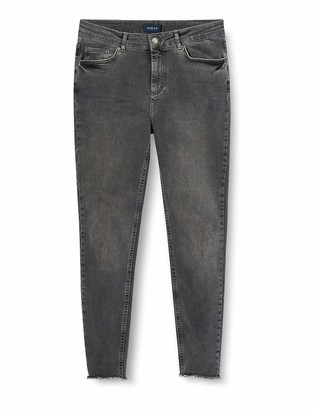 Pieces Women's Pcfive Delly B227 Mw Skn Cr Jns Lgr/noos Skinny Skinny Jeans