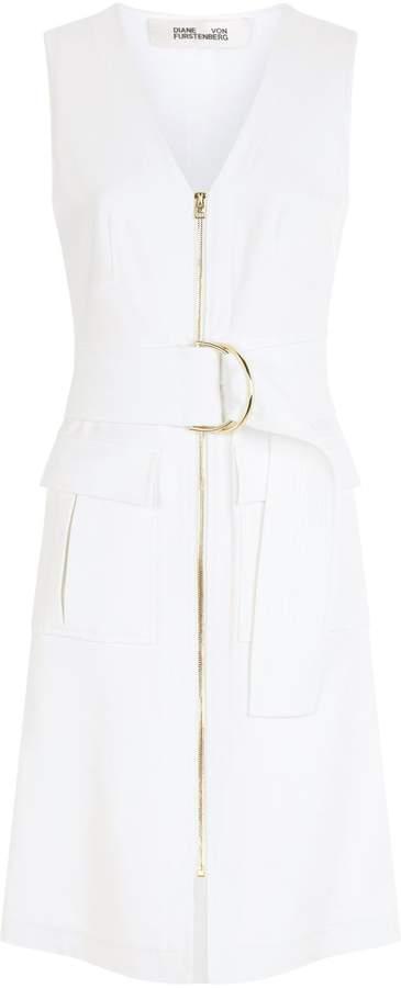 Diane von Furstenberg Zip Front Midi Dress