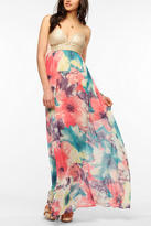 Urban Outfitters Reverse Sequin Bustier Maxi Dress